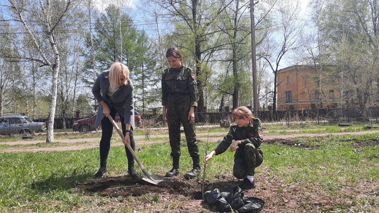 В честь участницы войны Ольги Фёдоровны Матушевской высажен «Сад памяти» в Биробиджане
